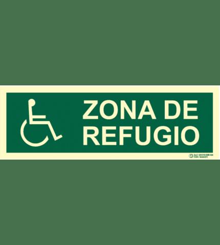 Señal / Cartel Zona de refugio. Clase B