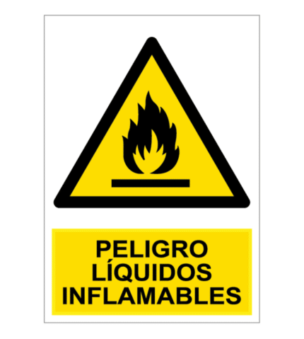 Señal / Cartel de Peligro Líquidos Inflamables