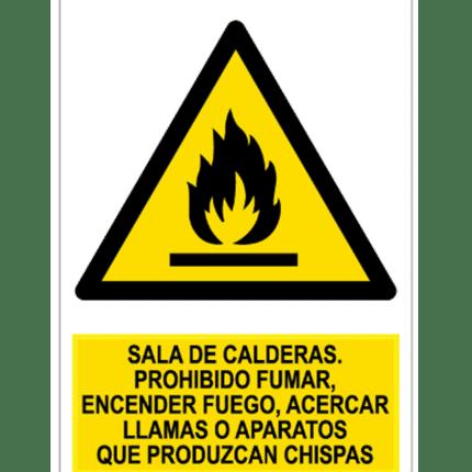 Señal / Cartel de Sala de Calderas