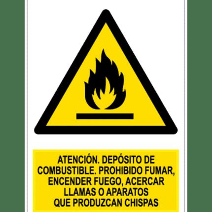 Señal / Cartel de Atención Depósito de Combustible