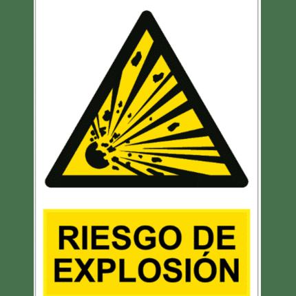 Señal / Cartel de Riesgo de explosión