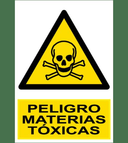 Señal / Cartel de Peligro. Materias tóxicas
