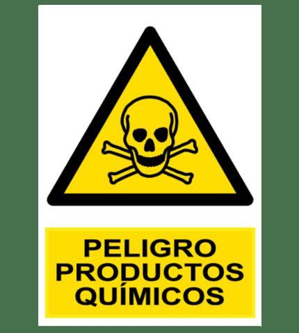 Señal / Cartel de Peligro. Productos químicos