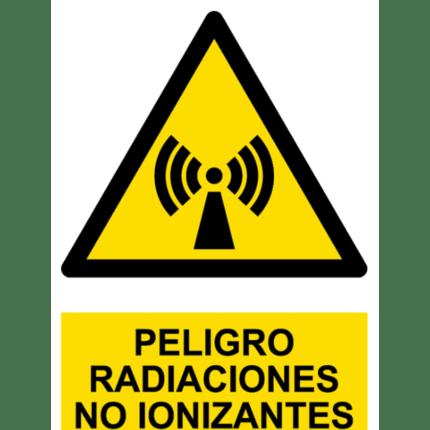 Señal / Cartel de Peligro. Radiación no ionizante