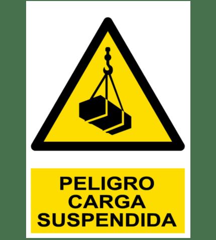 Señal / Cartel de Peligro. Carga suspendida