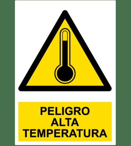 Señal / Cartel de Peligro. Alta temperatura