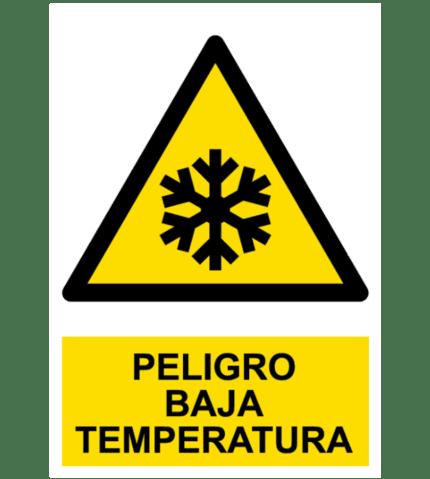 Señal / Cartel de Peligro. Baja temperatura