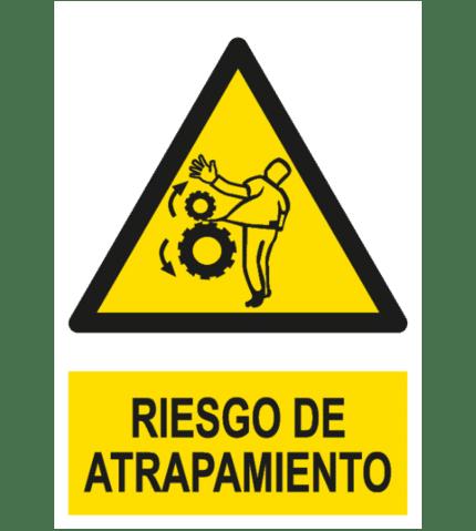 Señal / Cartel de Riesgo de atrapamiento