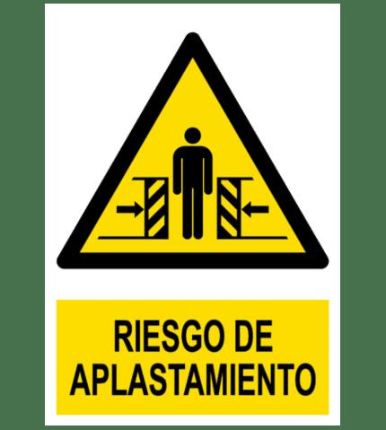 Señal / Cartel de Riesgo de aplastamiento
