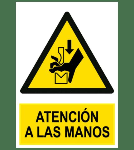 Señal / Cartel de Atención a las manos