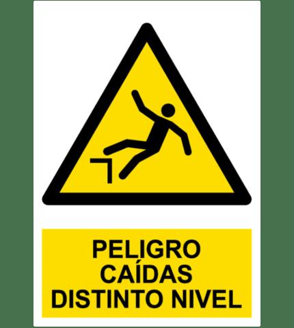 Señal / Cartel de Peligro. Caídas distinto nivel