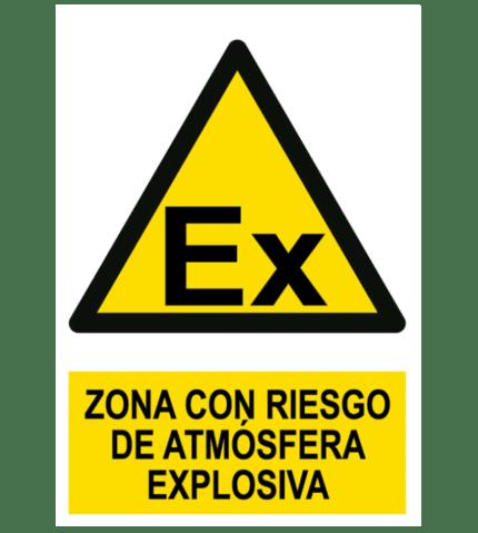 Señal / Cartel de Peligro. Atmósfera explosiva