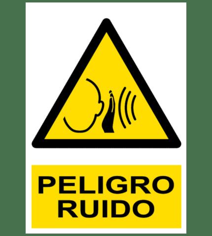 Señal / Cartel de Peligro. Ruido