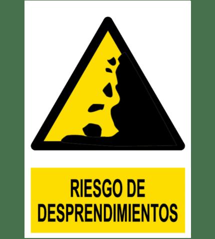 Señal / Cartel de Riesgo de desprendimientos