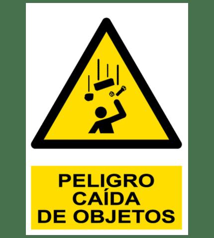 Señal / Cartel de Peligro. Caída de objetos