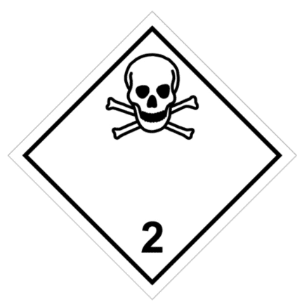 Señal de Gases tóxicos. División 2.3.