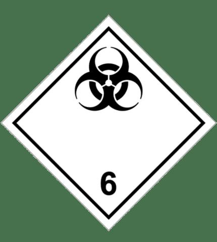 Señal de Materias infecciosas