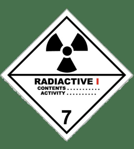 Señal de Materias radiactiva. Categoría I