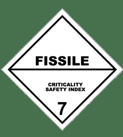Señal de Materias radiactivas fisionables