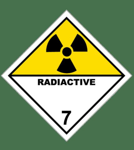 Señal de Materias radiactivas