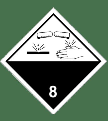 Señal de Materias corrosivas