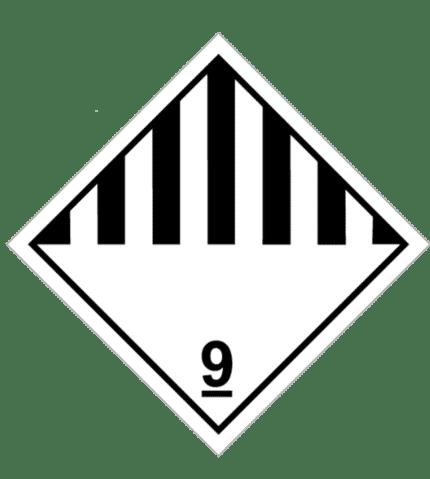Señal de Materias y objetos peligrosos diversos