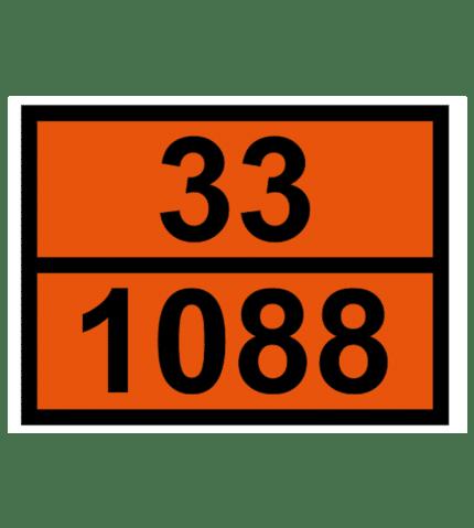 Señal de Identificación peligro y número ONU