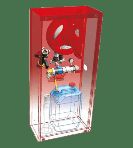 Boca de incedios equipada agua / espuma DN45