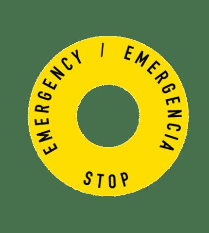 Señal de Botonera. Stop Emergency / Emergencia