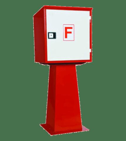 Caseta intemperie vacía material hidrantes CASE
