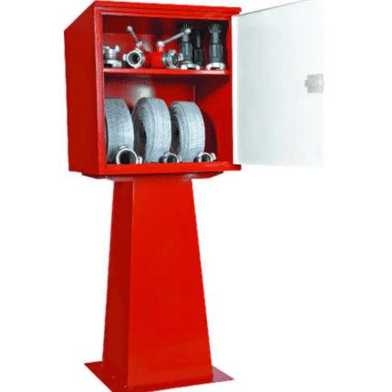 Caseta intemperie con dotación material hidrantes