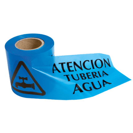 Cinta de balizamiento tubería agua