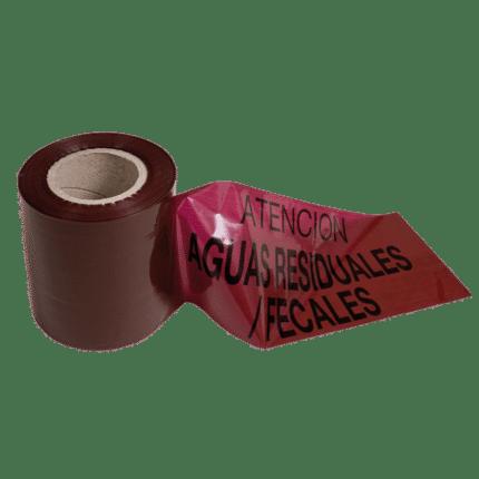 Cinta de balizamiento aguas residuales / fecales