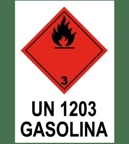 Señal / Cartel de UN 1203 Gasolina