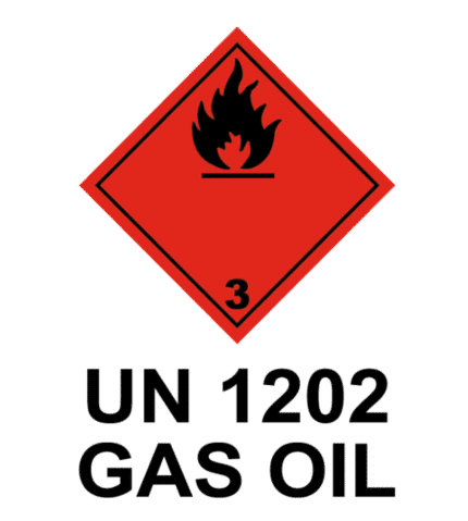 Señal / Cartel de UN 1202 Gas oil