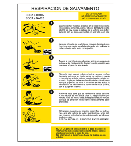 Rescue Breathing Information Poster