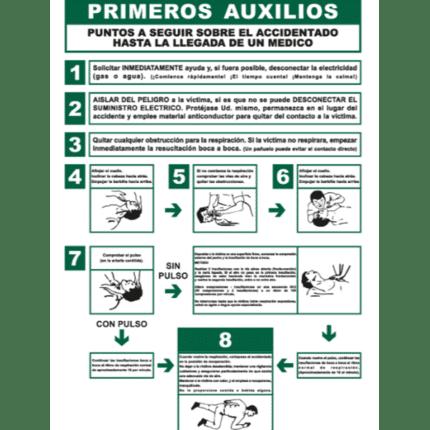Cartel informativo de Primeros auxilios