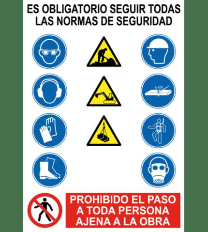 Señal / Cartel Genérico para obras
