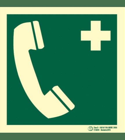 Señal / Cartel Teléfono de emergencia. Clase B