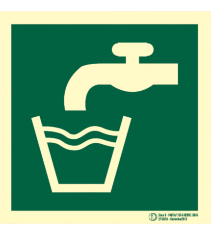 Señal / Cartel Agua potable. Clase B