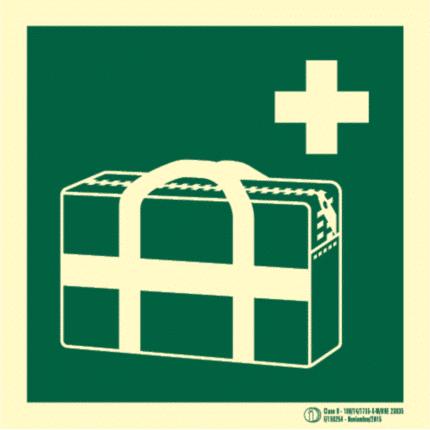 Señal / Cartel de KIT Médico de emergencia. Clase B