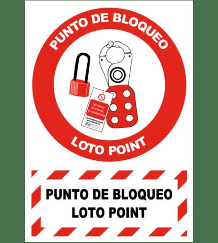 Señal / Cartel de punto de bloqueo