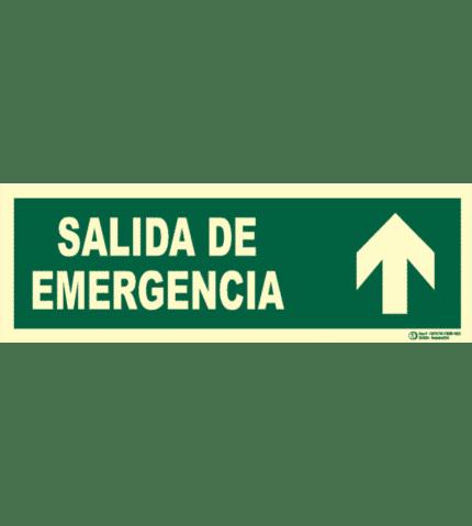 Señal / Cartel Salida emergencia con flecha. Clase B