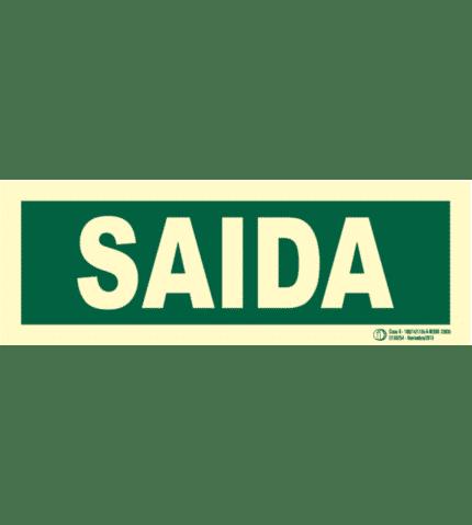 Señal / Cartel de Saida. Monolingüe Clase B
