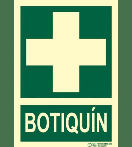 Señal / Cartel de Botiquín. Clase B