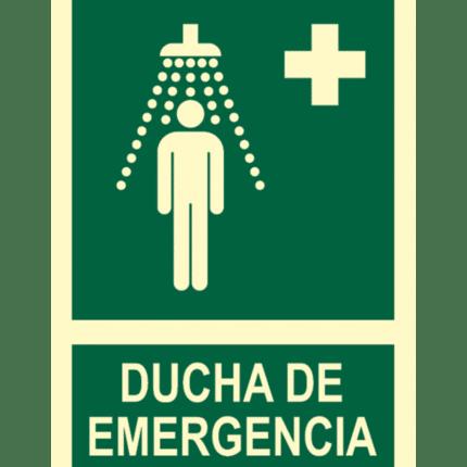 Señal / Cartel de Ducha de emergencia. Clase B