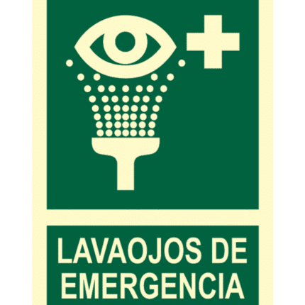 Señal / Cartel de Lavaojos de emergencia. Clase B