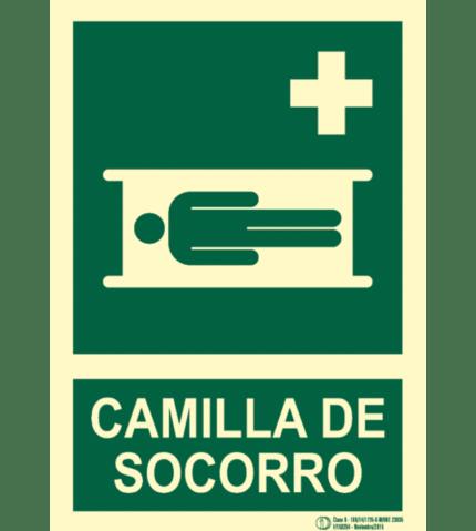 Señal / Cartel Camilla de socorro. Clase B