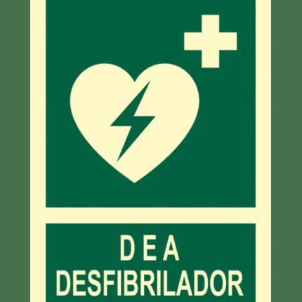 Señal / Cartel de Desfibrilador. Clase B