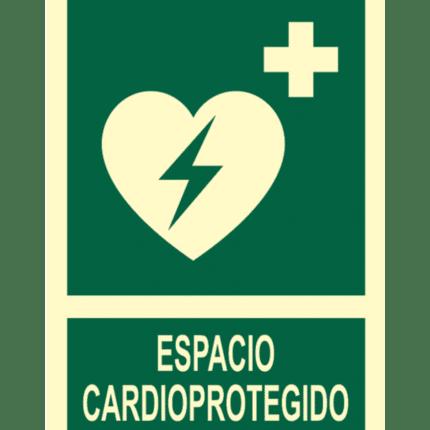 Señal / Cartel de Espacio cardioprotegido. Clase B